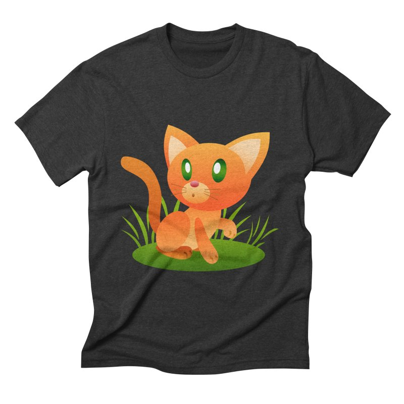 Little Cat Men's Triblend T-shirt by Baubly Apparel