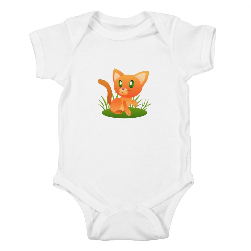 Little Cat Kids Baby Bodysuit by Baubly Apparel