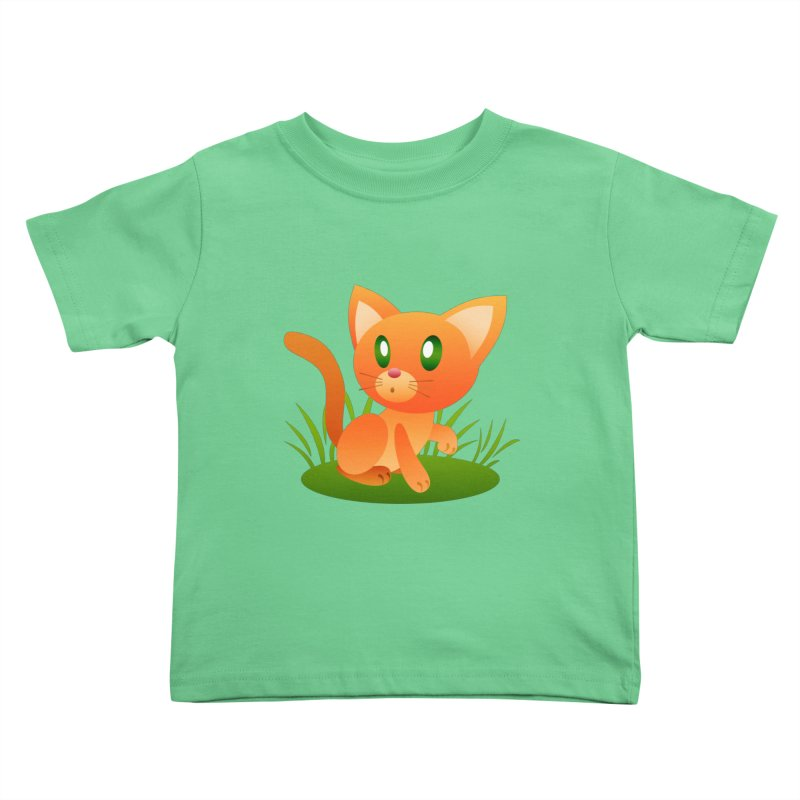Little Cat Kids Toddler T-Shirt by Baubly Apparel
