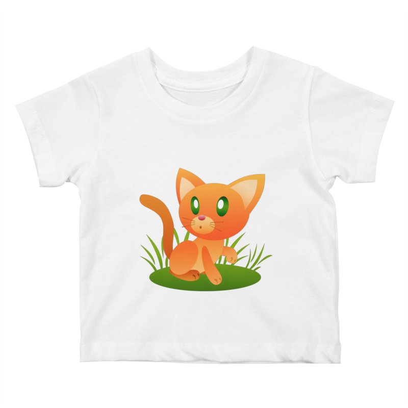 Little Cat Kids Baby T-Shirt by Baubly Apparel