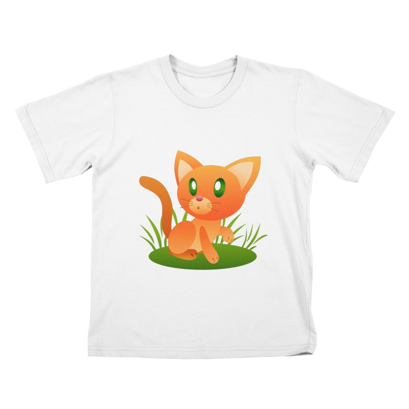 Little Cat Kids T-Shirt by Baubly Apparel