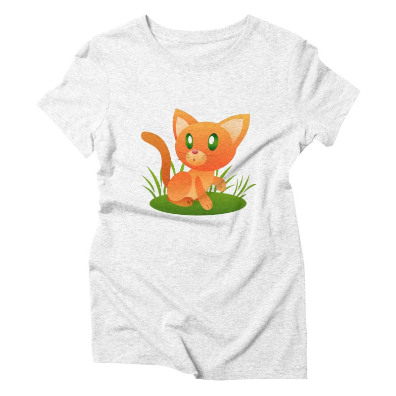 Little Cat Women's Triblend T-shirt by Baubly Apparel