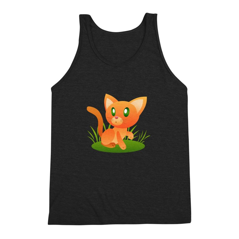 Little Cat Men's Triblend Tank by Baubly Apparel