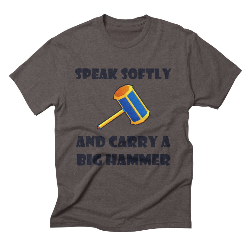Big Hammer Men's Triblend T-Shirt by Baubly Apparel