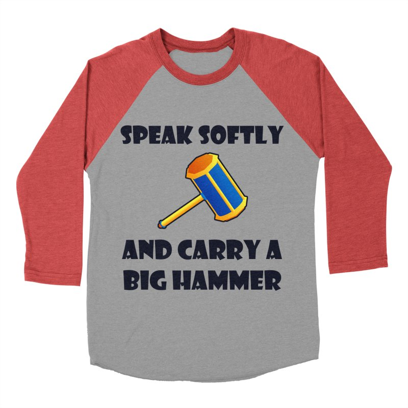 Big Hammer Women's Baseball Triblend T-Shirt by Baubly Apparel