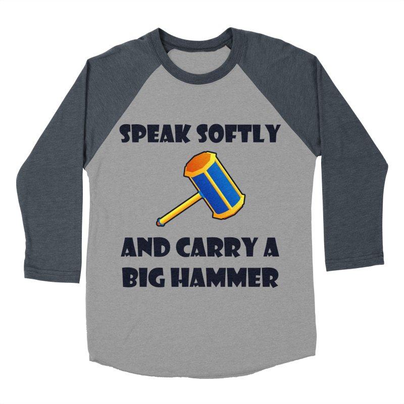 Big Hammer Men's Baseball Triblend T-Shirt by Baubly Apparel