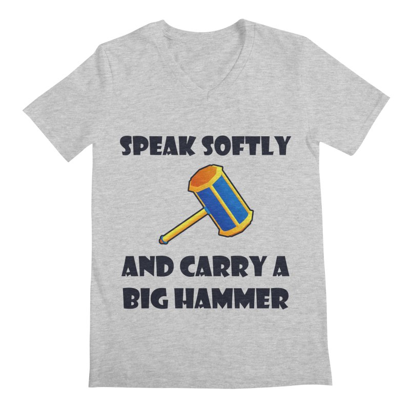 Big Hammer Men's V-Neck by Baubly Apparel