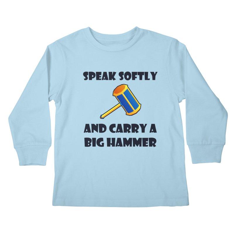 Big Hammer Kids Longsleeve T-Shirt by Baubly Apparel