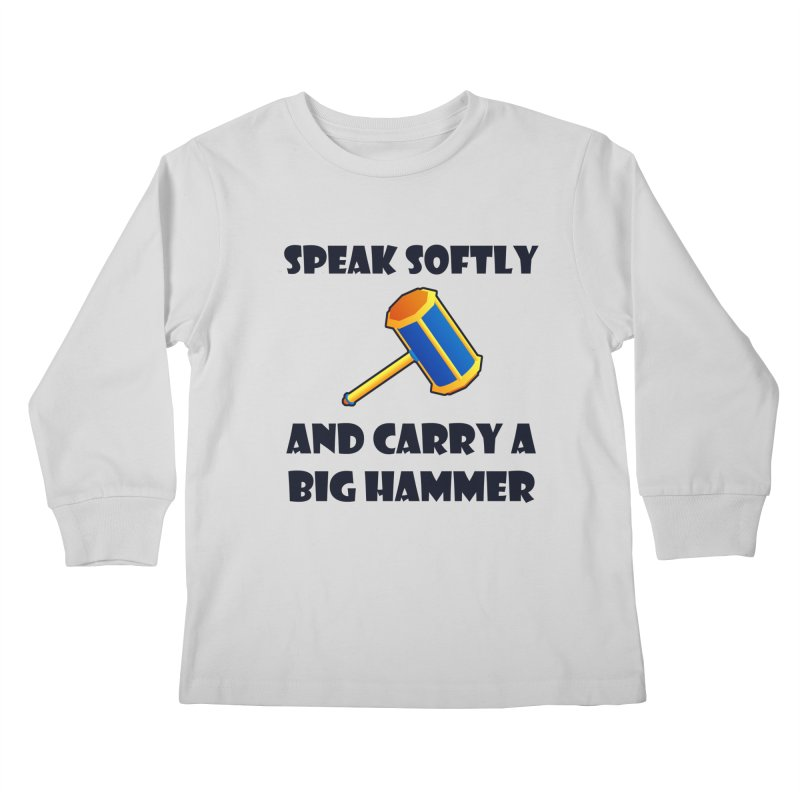 Big Hammer Kids Longsleeve T-Shirt by Baubly Apparel