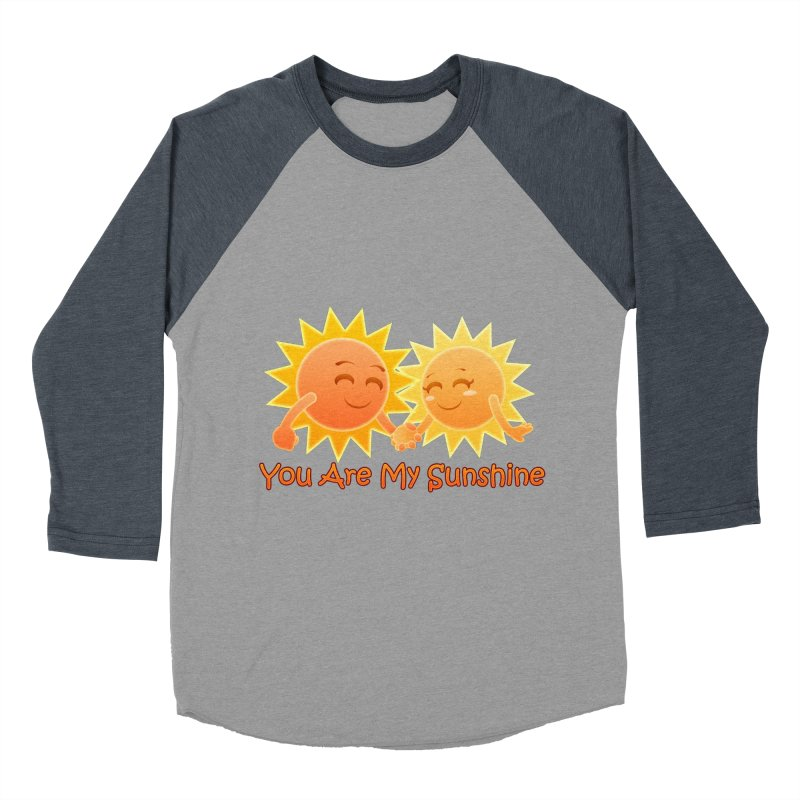 You Are My Sunshine Women's Baseball Triblend T-Shirt by Baubly Apparel