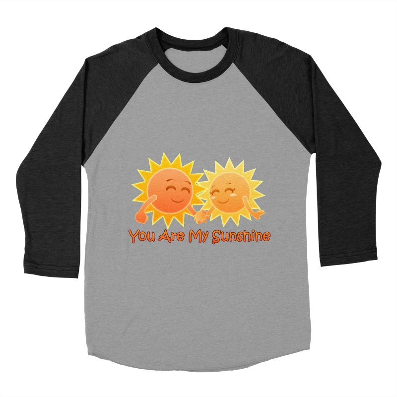 You Are My Sunshine Men's Baseball Triblend T-Shirt by Baubly Apparel