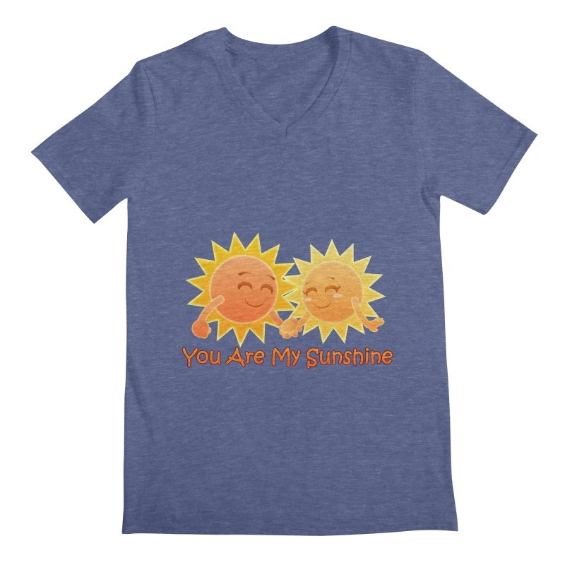 You Are My Sunshine Men's V-Neck by Baubly Apparel