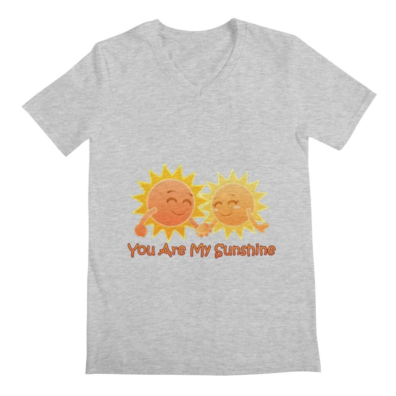 You Are My Sunshine Men's V-Neck by Baubly Apparel