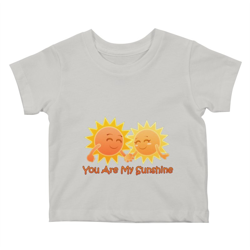 You Are My Sunshine Kids Baby T-Shirt by Baubly Apparel