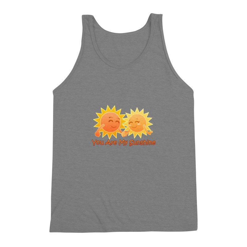 You Are My Sunshine Men's Triblend Tank by Baubly Apparel