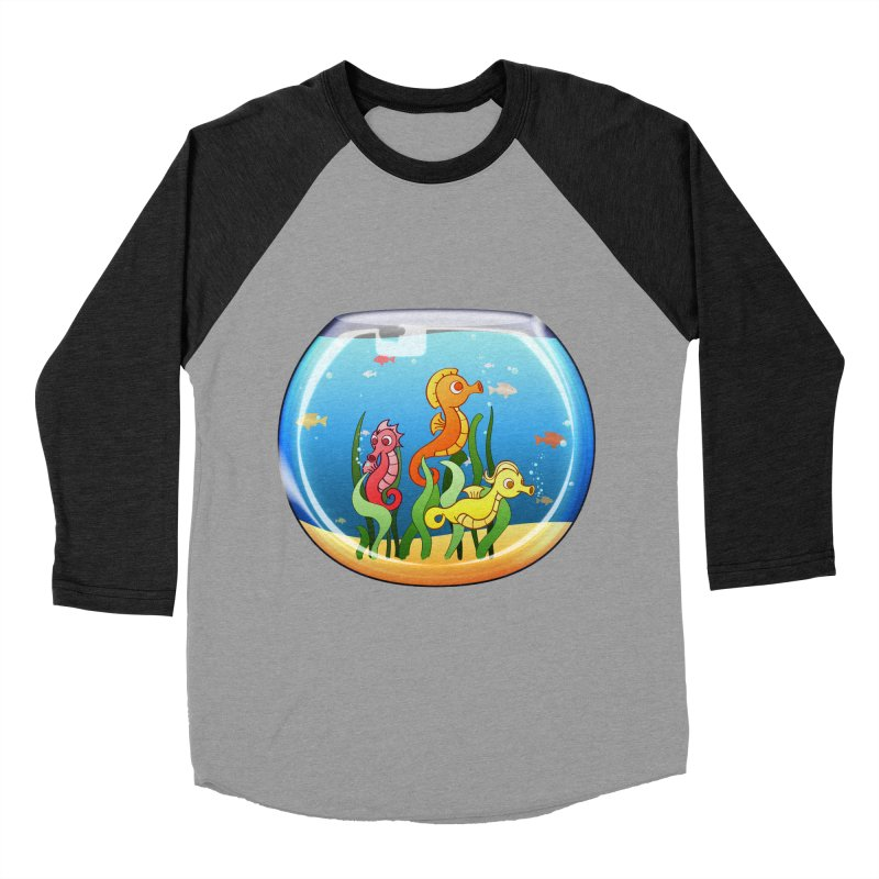 Seahorse Bowl Men's Baseball Triblend T-Shirt by Baubly Apparel
