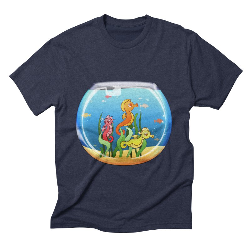 Seahorse Bowl Men's Triblend T-shirt by Baubly Apparel