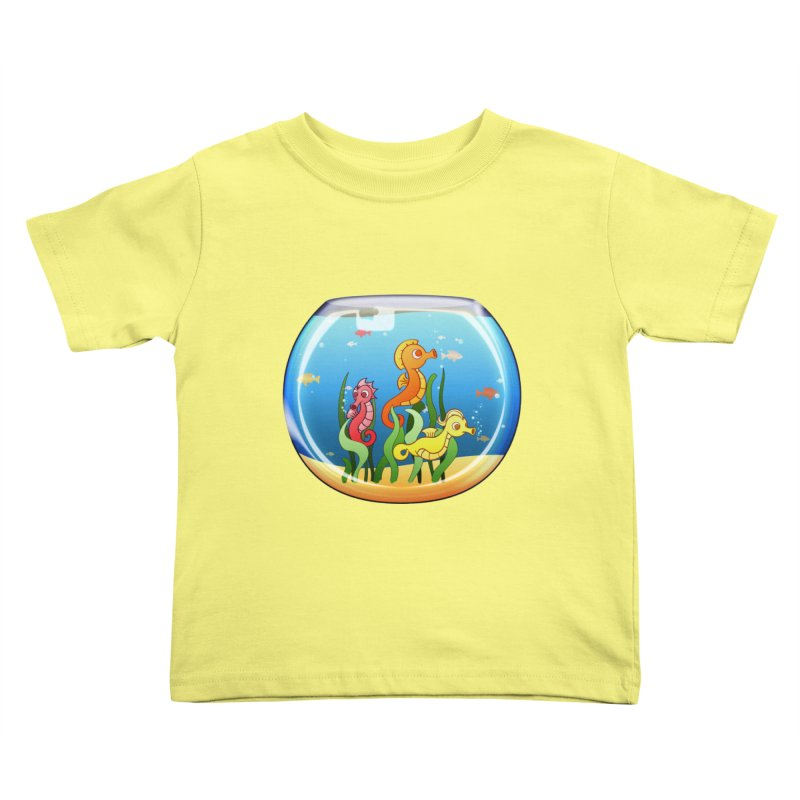 Seahorse Bowl Kids Toddler T-Shirt by Baubly Apparel