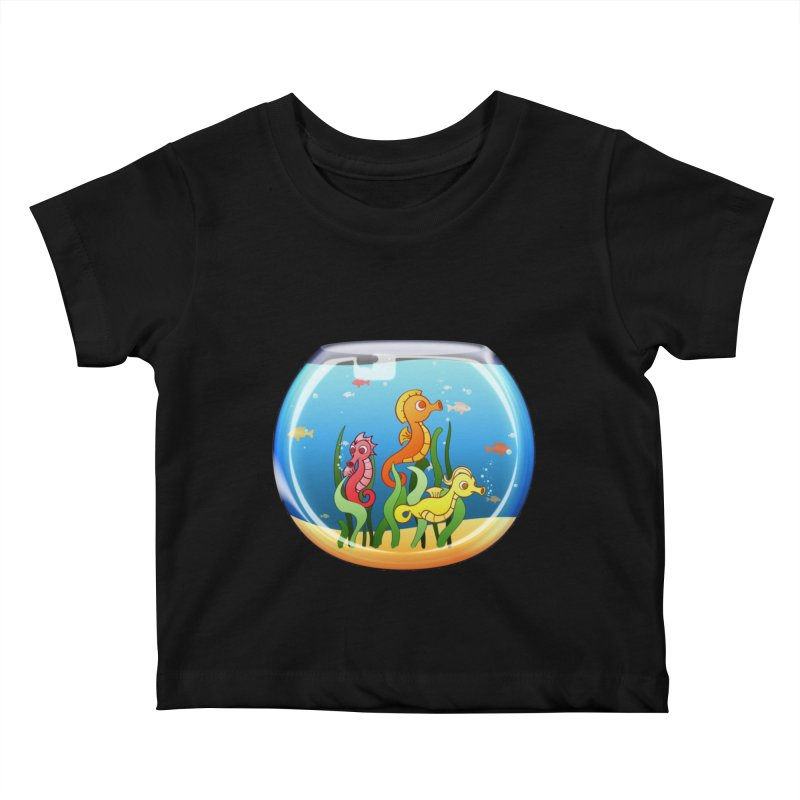 Seahorse Bowl Kids Baby T-Shirt by Baubly Apparel