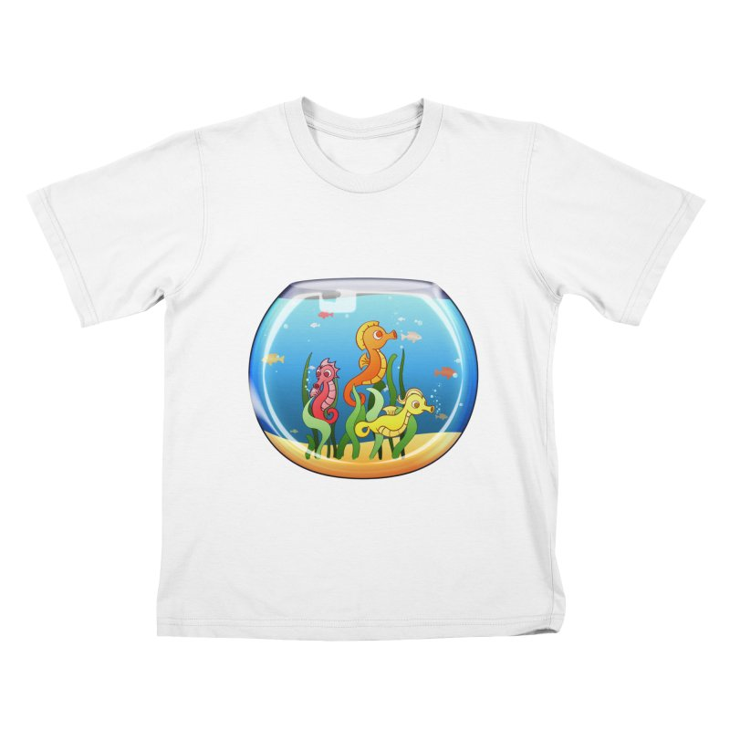 Seahorse Bowl Kids T-shirt by Baubly Apparel