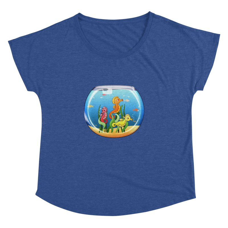 Seahorse Bowl Women's Dolman by Baubly Apparel