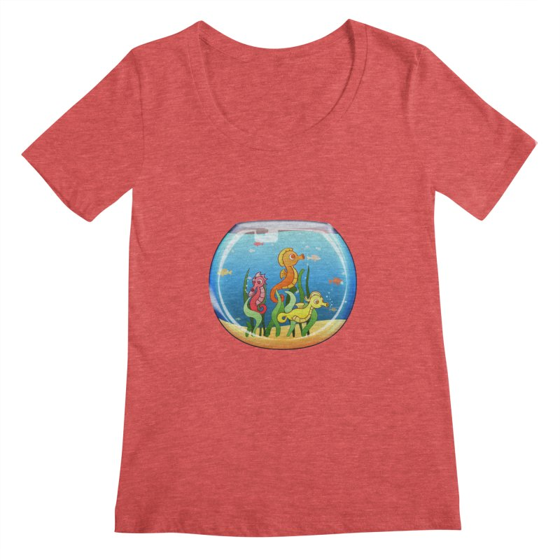 Seahorse Bowl Women's Scoopneck by Baubly Apparel
