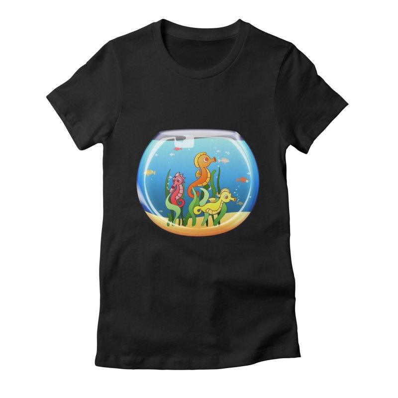 Seahorse Bowl Women's Fitted T-Shirt by Baubly Apparel