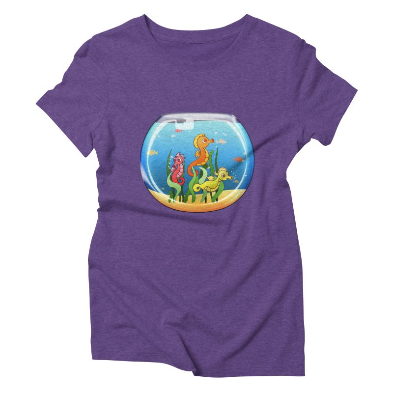 Seahorse Bowl Women's Triblend T-Shirt by Baubly Apparel