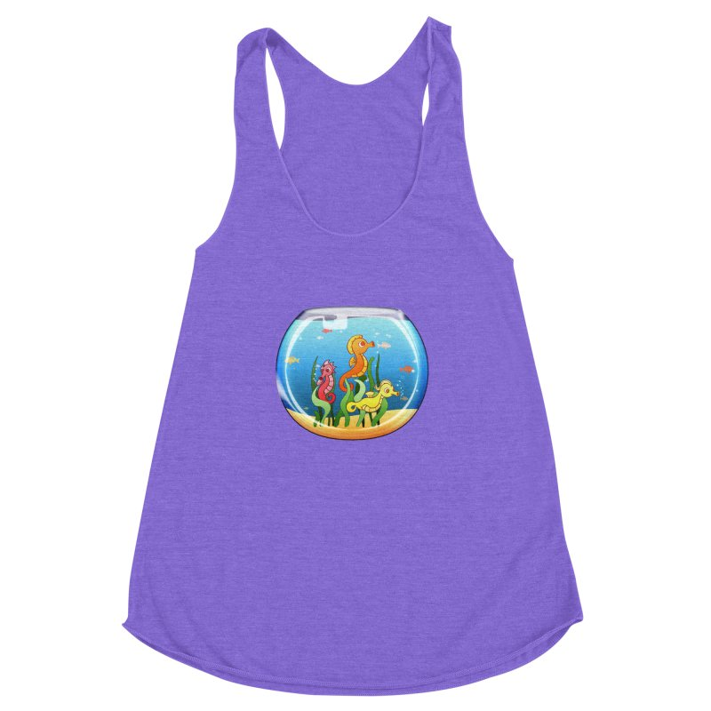 Seahorse Bowl Women's Racerback Triblend Tank by Baubly Apparel