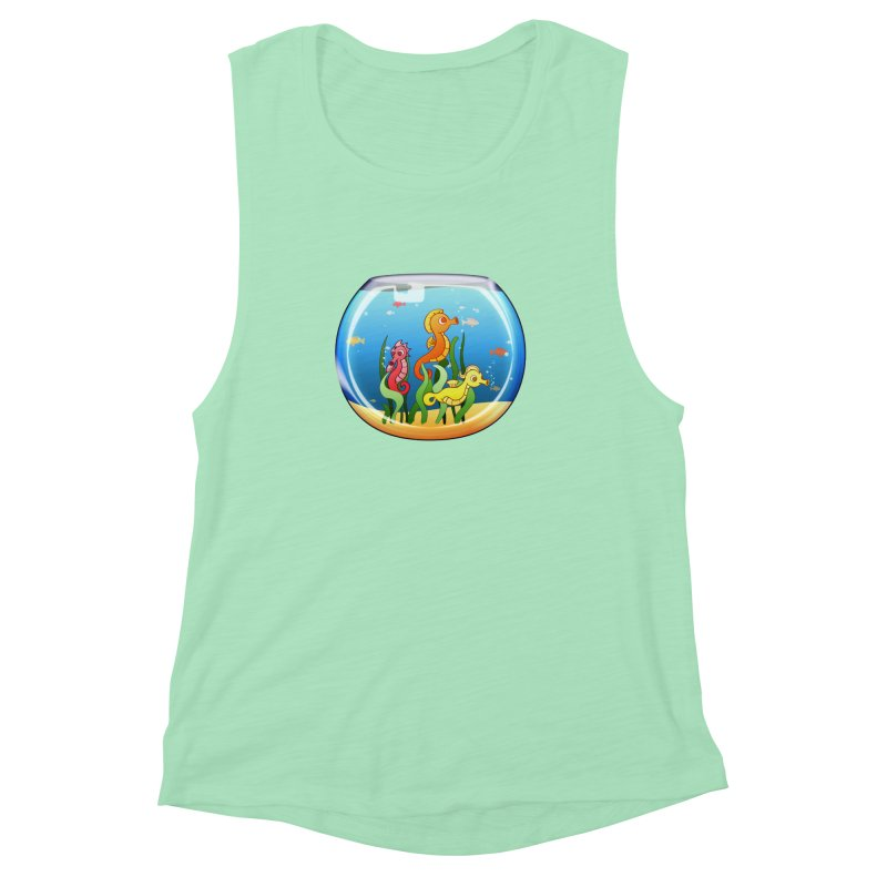 Seahorse Bowl Women's Muscle Tank by Baubly Apparel