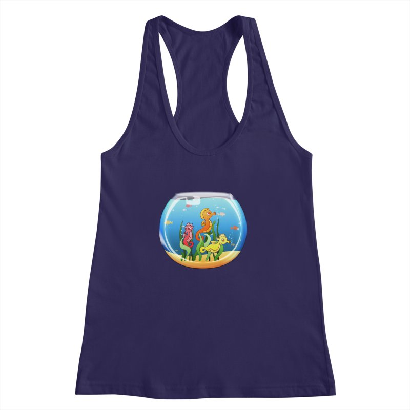 Seahorse Bowl Women's Racerback Tank by Baubly Apparel