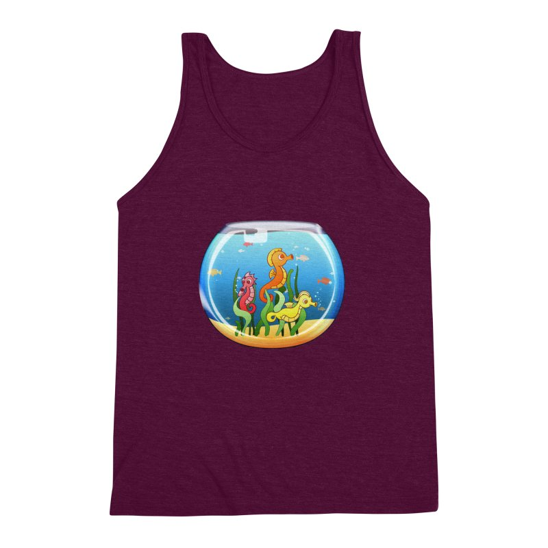 Seahorse Bowl Men's Triblend Tank by Baubly Apparel