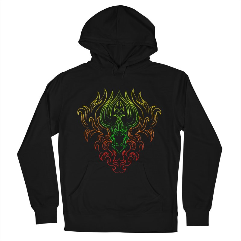 Dragon Fire Men's Pullover Hoody by Baubly Apparel