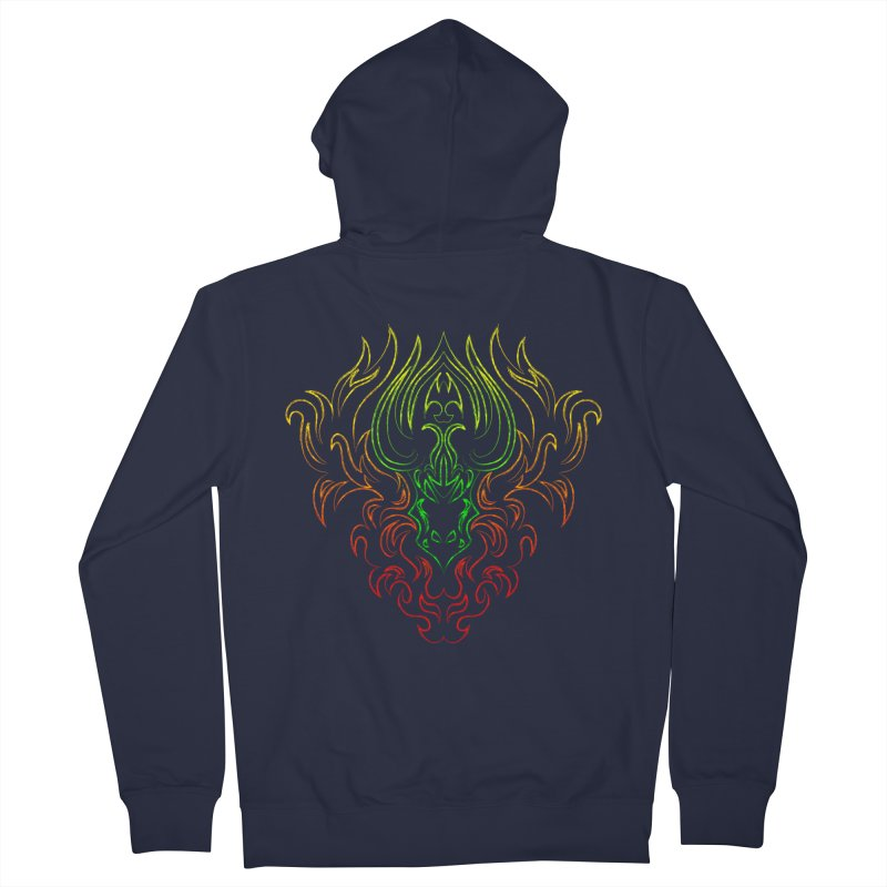 Dragon Fire Men's Zip-Up Hoody by Baubly Apparel