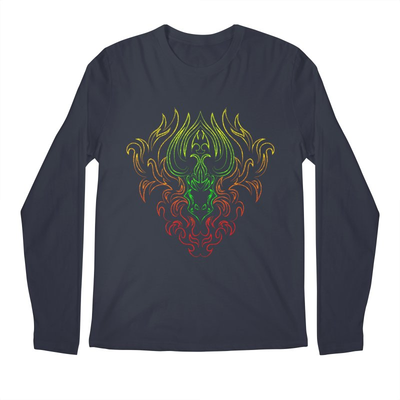 Dragon Fire Men's Longsleeve T-Shirt by Baubly Apparel
