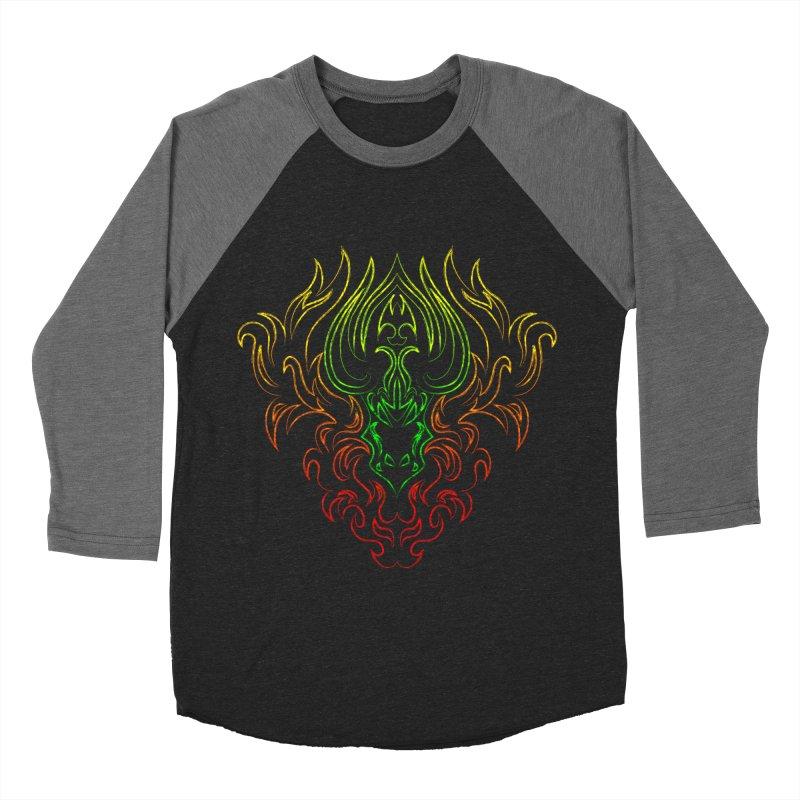 Dragon Fire Women's Baseball Triblend T-Shirt by Baubly Apparel