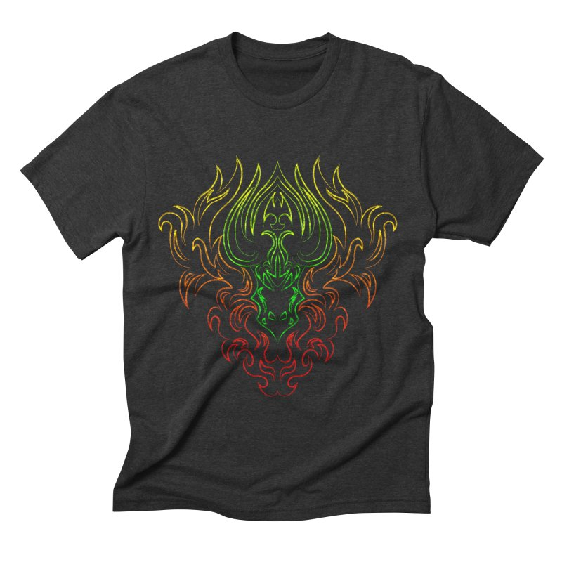 Dragon Fire Men's Triblend T-shirt by Baubly Apparel