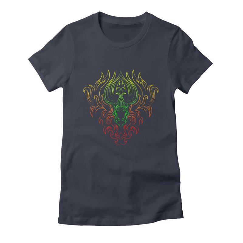 Dragon Fire Women's Fitted T-Shirt by Baubly Apparel