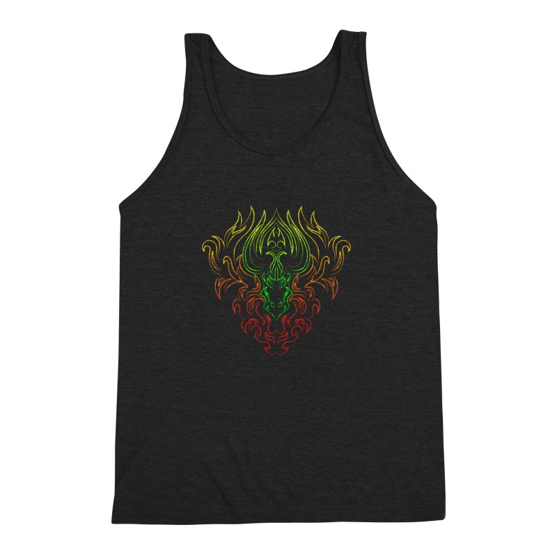 Dragon Fire Men's Triblend Tank by Baubly Apparel