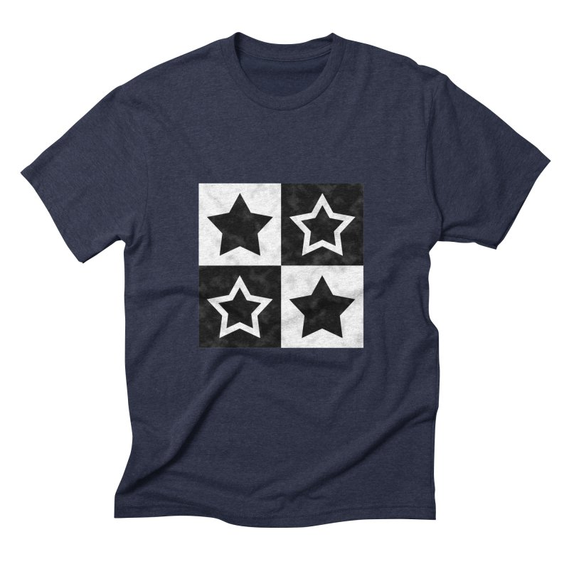 Star Blocks Men's Triblend T-Shirt by Baubly Apparel