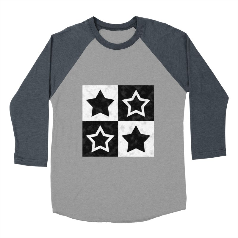 Star Blocks Men's Baseball Triblend T-Shirt by Baubly Apparel
