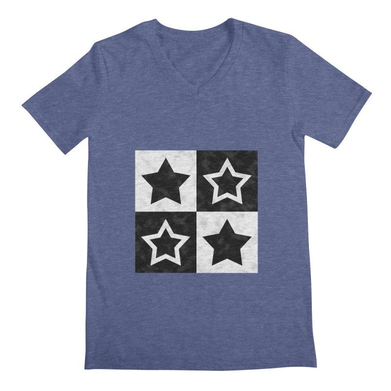 Star Blocks Men's V-Neck by Baubly Apparel
