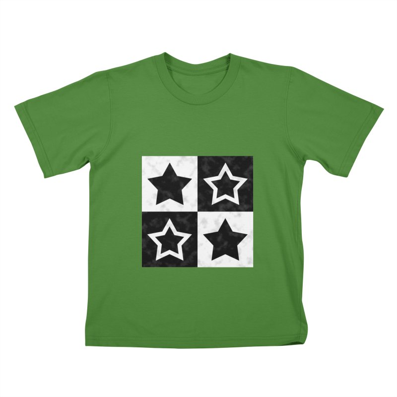 Star Blocks Kids T-Shirt by Baubly Apparel