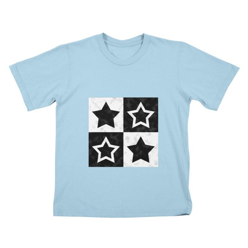 Star Blocks Kids T-shirt by Baubly Apparel