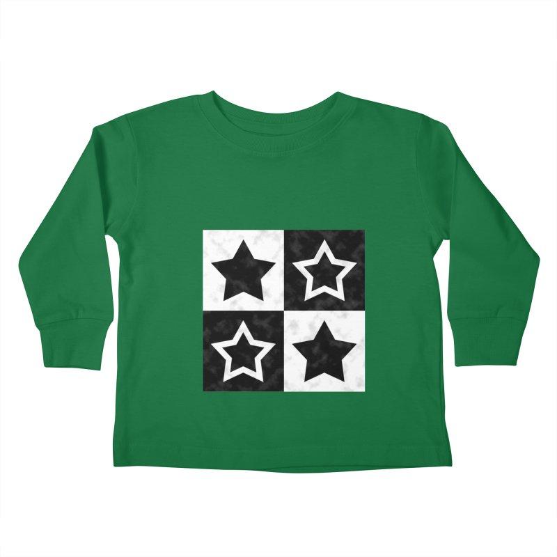 Star Blocks Kids Toddler Longsleeve T-Shirt by Baubly Apparel