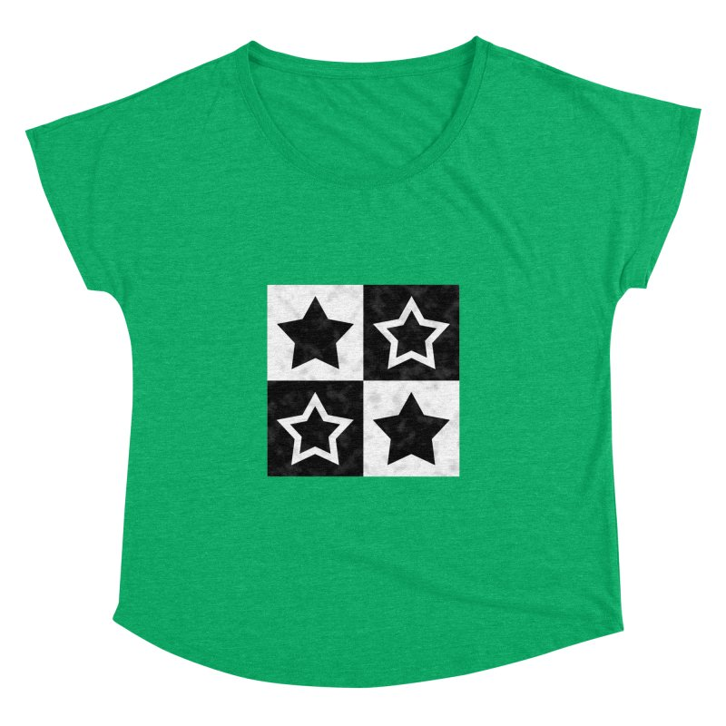 Star Blocks Women's Dolman by Baubly Apparel