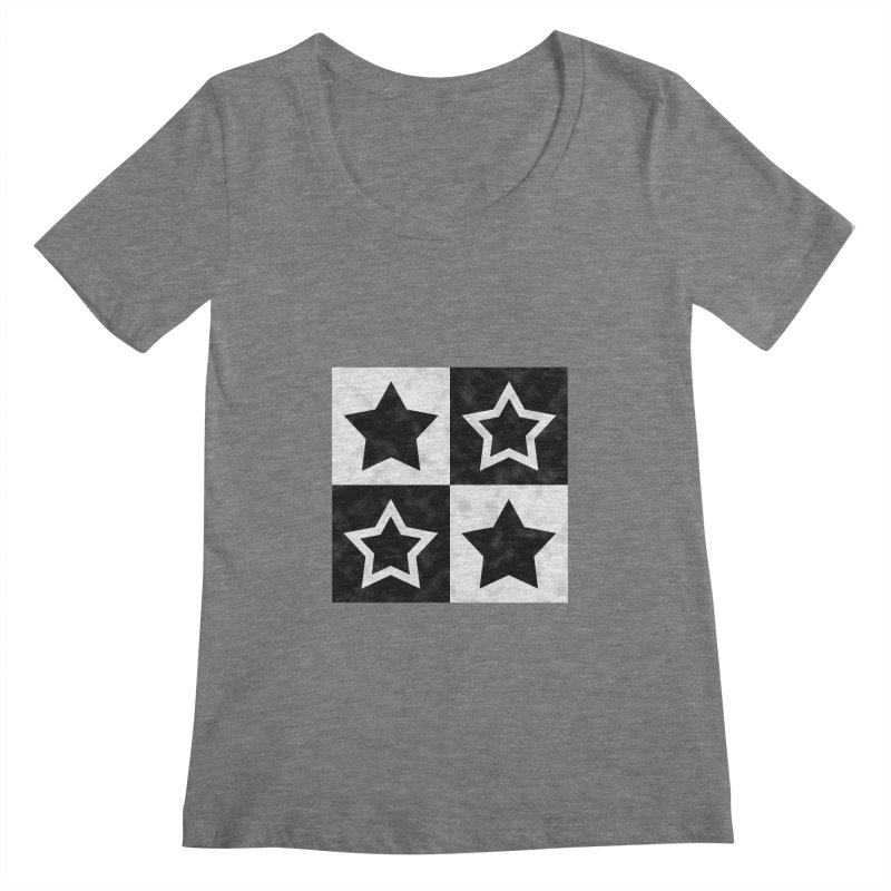 Star Blocks Women's Scoopneck by Baubly Apparel