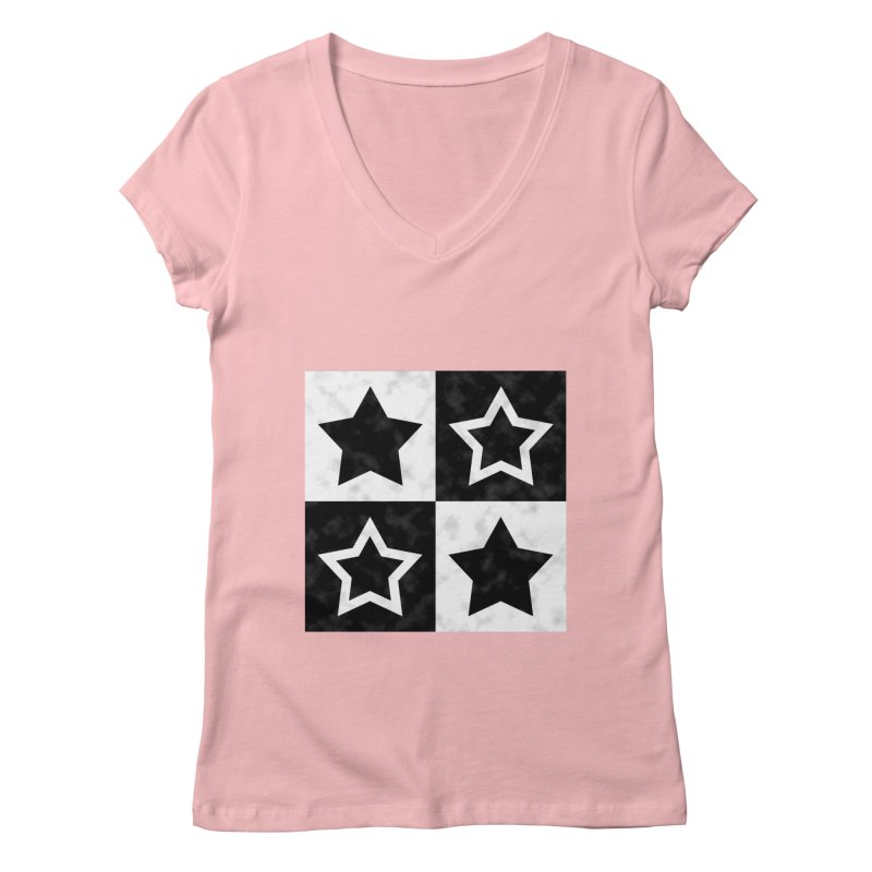 Star Blocks Women's V-Neck by Baubly Apparel