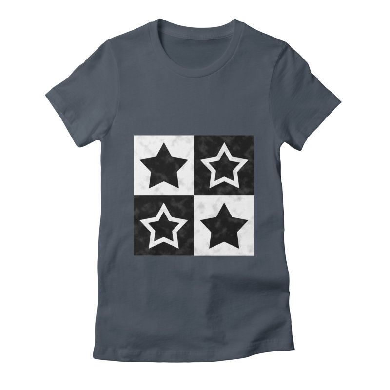 Star Blocks Women's Fitted T-Shirt by Baubly Apparel