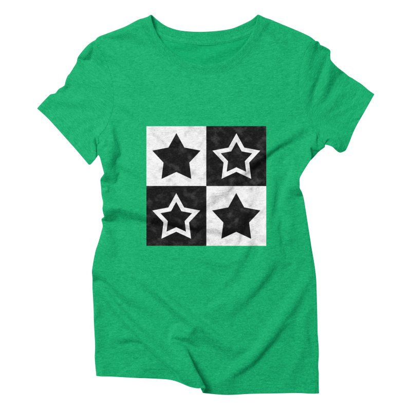Star Blocks Women's Triblend T-Shirt by Baubly Apparel